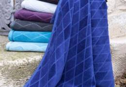 Jacquard woven- velour- towel-70x140 cm